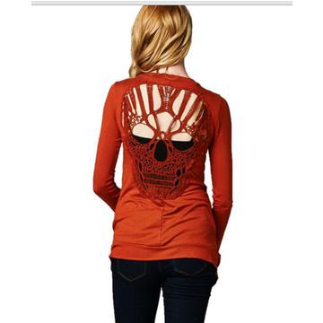 Long Crochet Lace Cardigans Jacket orange fit size