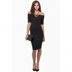 Gamiss One-step And Knee-length Fashion Package-hip Dress Black S