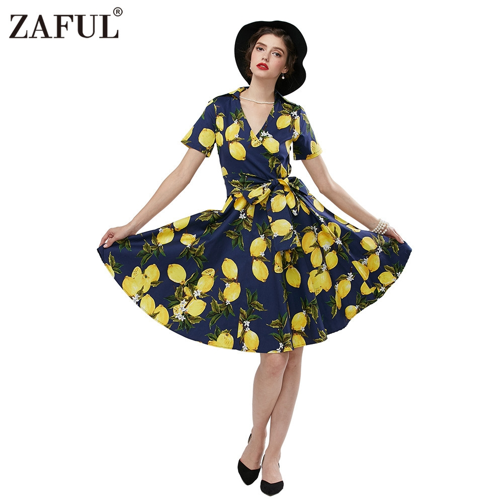 Item specifics: Seller SKU:200512501: Brand: Style: Unlimited. Fashion vintage printing dress women ...