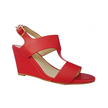 f974eeda97c Cut Out Slingback Wedge Shoes - Red 40 56267