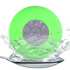 BTS - 06 Water Resistant Shower Bluetooth Speaker with Sucker Support Hands-free Calls Function Green 6W One size