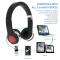 (Buy 1 get 2 Gifts) Stretchable & Foldable Wireless Bluetooth Headset Headphone Black