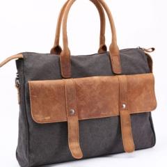 Messenger/Shoulder Bag Simple retro men's business bags canvas messenger bag handbag Grey one size