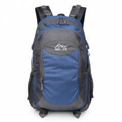 Backpack Multifunctional large capacity all-match classic men and women wear waterproof Backpack Blue one size
