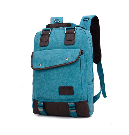 2ba1eb1fc127 2017 New Fashion Women and Men Backpack Unisex Canvas Backpacks Laptop  Backpack Travel School Bag blue