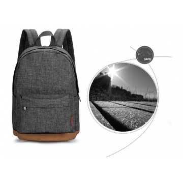 Men Male Canvas College Student School Backpack Casual Rucksacks Laptop Travel Bag Backpacks gray one size