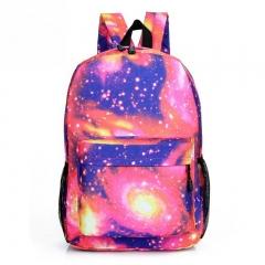 Fashion Design Men Women Stars Universe Space printing  School Book Backpacks Stars Pattern bag red one size