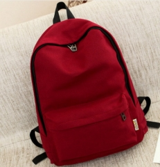 Small Canvas Backpack For Women Men Student Back to School bag For Teenager Boy Girl Children red one size