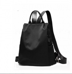 Korean Style Anti Theft Waterproof Oxford Cloth Backpack black one size
