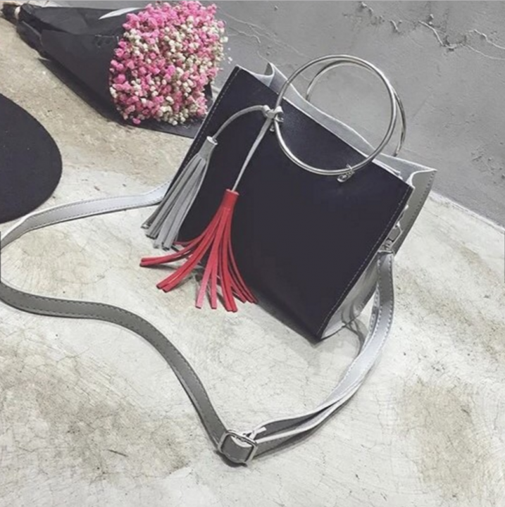 Women handbag vintage bag shoulder bags black one size