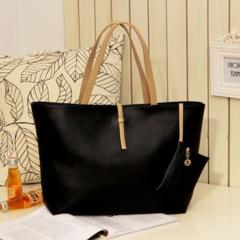 Fashion Simple Handbag Wallet For Women black one size