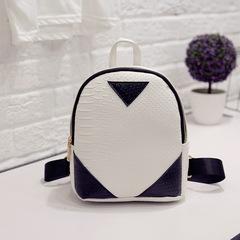 Canvas Backpack Female Shoulder Bag Serpentine Shoulder Bag School Book white one size