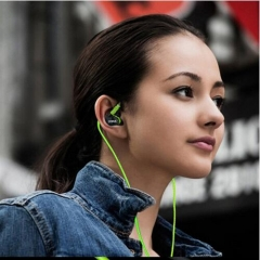 1.2m Cable Sports helmet earphone microphone stereo music Headset for Infinix /Cubot Green