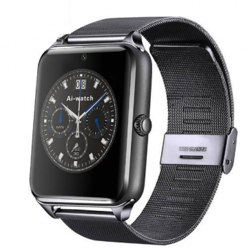Smart Watch Z60 Bluetooth Wearable Devices Support SIM TF Card Camera SmartWatch for Apple Android black