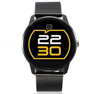 F1 MTK2502 Bluetooth Smart Watch with Heart Rate Monitor for Android IOS Phone black