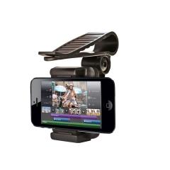 Universal 360°Rotable Car Sun Visor Bracket Mobile Phone Mount Holder Black