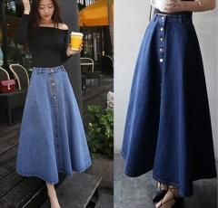Long skirt light blue s