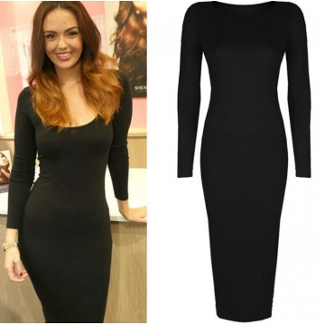 Women Casual Wear To Work Business Bodycon Sundress Party Pencil Dress  black s