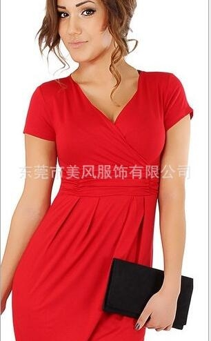 Fashion Pregnancy Dresses For Pregnant Women Maternity Clothes Autumn Winter Dresses red m