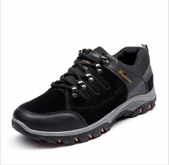 Men Mountain Hiking Shoes Leather Hunting Boots Autumn Winter Mens Outdoor Sport Shoes black 39