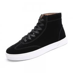 Hot Sale Large Size Board Shoes Supras Men's Sport School High Shoes Comfortable Lace-Up black 39