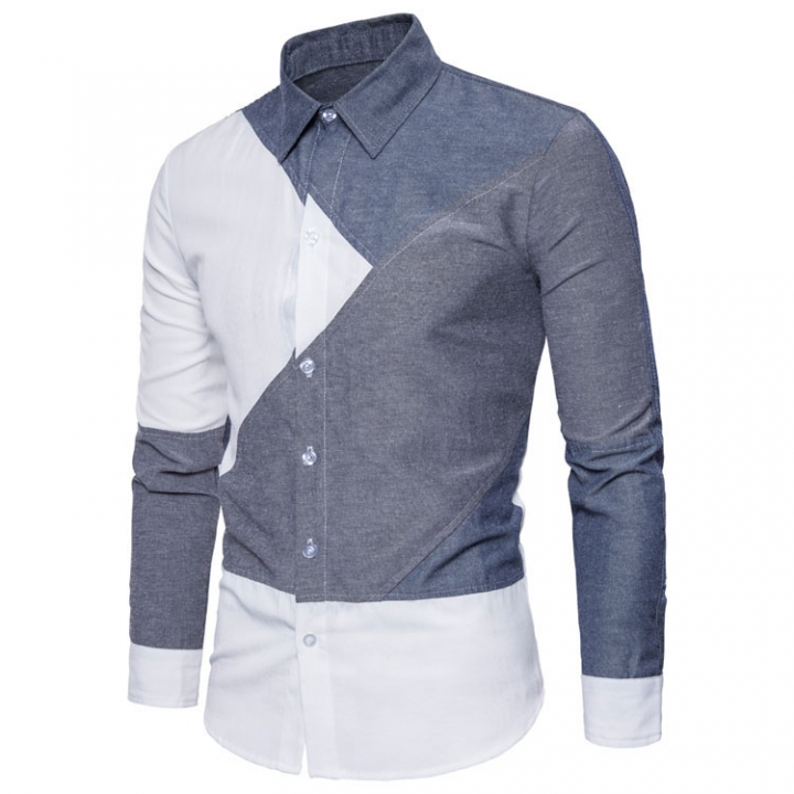Men's Shirts Autumn Winter Long Sleeves Blouse Men Casual Shirts Male Social Business Tops picture color xl