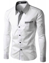 Brand Dress Shirts Mens Striped Shirt 21136 white 3xl