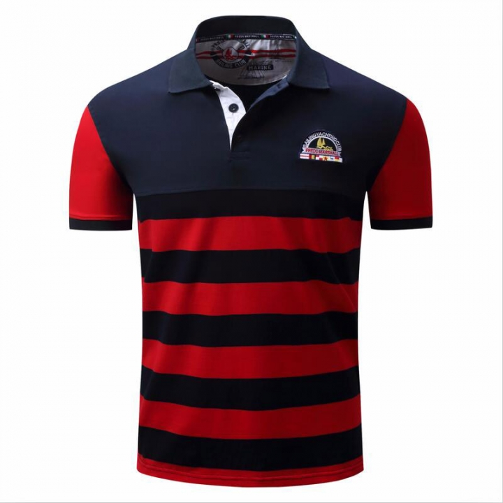 a27d10d1 2018 New 100% Cotton Men Polo Shirt Summer Casual Striped High Quality  Embroidery Polo Shirts