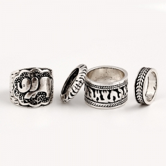 Retro Punk  Metal Sculpture Ring silver one size