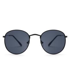 Flat Lenses Street Fashion Metal  Frame Sunglasses For Men +Free Box Blue One Size