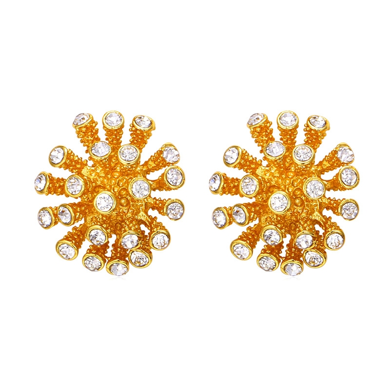 8e443e669 Crystal Snow Ball Stub Earrings For Women Gold/Platinum Plated Rhinestone  Earrings Fashion Jewellery gold plated one size: Product No: 76923. Item  specifics ...