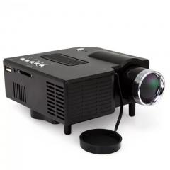 Portable Mini LED Projector Multimedia Home Movie TV Cinema Theater Digital LED Projector black 15cm