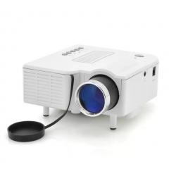 Portable Mini LED Projector Multimedia Home Movie TV Cinema Theater Digital LED Projector white 15cm