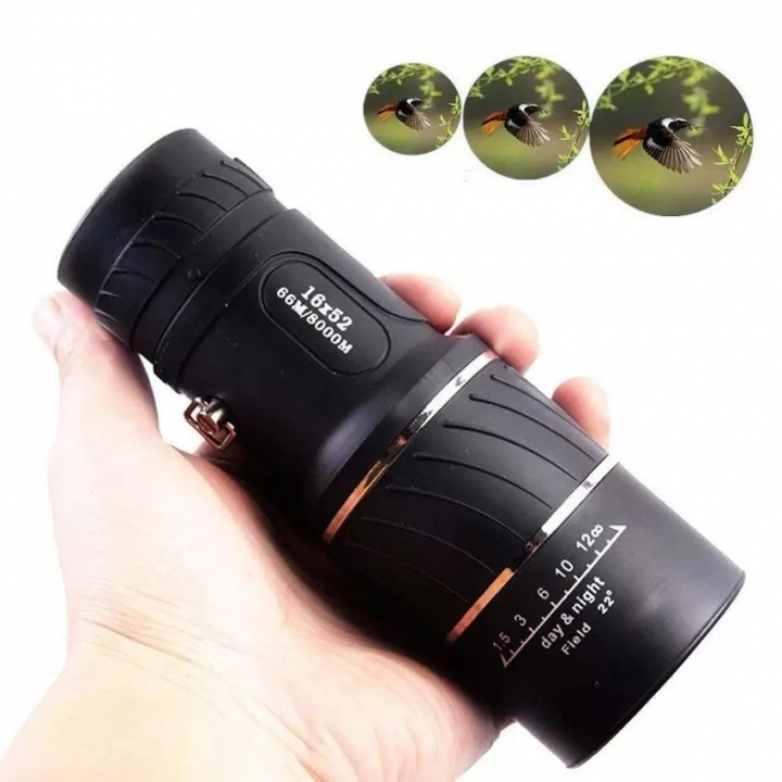 Outdoor Sport Camping Telescope Handheld Day & Night Vision 16x52 HD Optical Monocular