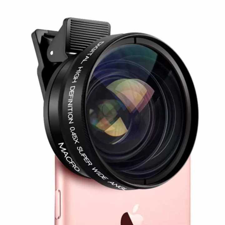 0.45x Super Wide Angle Phone Lens with 12.5x Super Macro Lens For Mobile Phone Camera