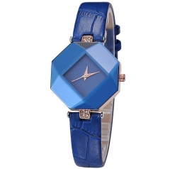 Kezzi Women Ladies Quartz Watch Kroean Fashion Acrylic Wristwatch blue