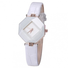 Kezzi Women Ladies Quartz Watch Kroean Fashion Acrylic Wristwatch white