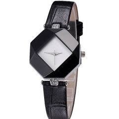 Kezzi Women Ladies Quartz Watch Kroean Fashion Acrylic Wristwatch black