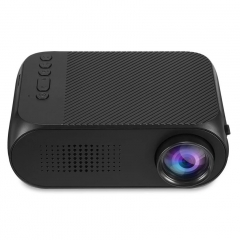 Portable LED Mini Projector Home Theater Cinema 1080P Video USB Pocket  Built-in speaker black 10cm
