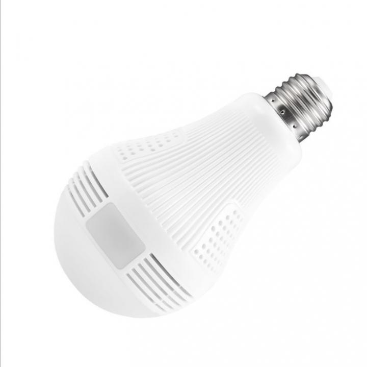 Bulb Lamp Wireless IP Camera Wifi 960P Panoramic FishEye Home Security CCTV Camera 360  Night Vision white 8cm