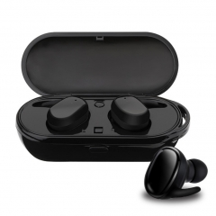 TWS Business Bluetooth Earphones Wireless 3D Stereo Headphones Headset And Power Bank TWS Black