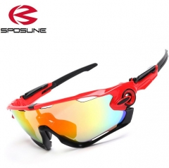 Outdoor Sport Sunglasses Men/Women Fishing SunGlasses Fashion Bicycle Riding Sunglasses Red Fashion