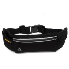 Outdoor Waterproof Multi-functional Men Women Sport Waist Bag Running Belt Mountaineering Bag Black