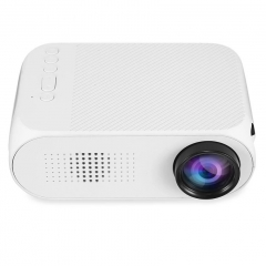 Portable LED Mini Projector Home Theater Cinema 1080P Video USB Pocket Proyector Built-in speaker white 15