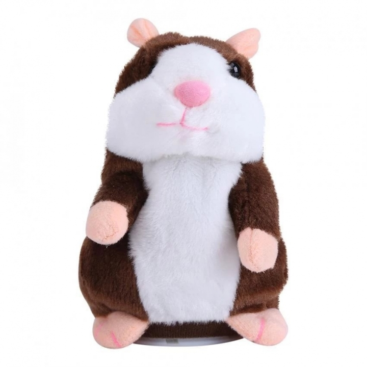 Gift Talking Hamster Mouse Pet Plush Toy Speak Talking Record Hamster Plush Toys Coffee 15