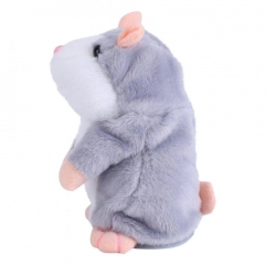 Gift Talking Hamster Mouse Pet Plush Toy Speak Talking Record Hamster Plush Toys Grey 15