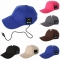 Wearable Hat Bluetooth Earphones Baseball Cap With Mic black