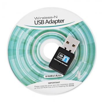 High Speed 300Mbps USB Wifi Wireless Adapter-Network Card LAN Dongle black 802.11 B/G/N mini