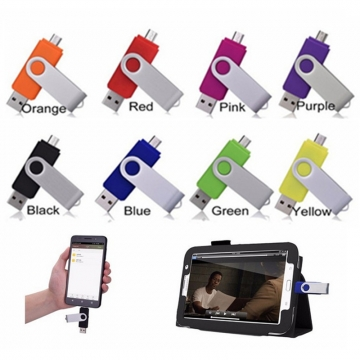 8GB/16GB Fast Speed  Usb Flash Drive for Android Smart Phone 16g black otg portable multifunctional