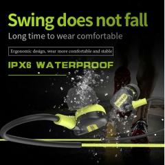 IPX6 Waterproof & Sweetproof Earphone-with Mic Volume Control Handsfree Headset For Smartphone black